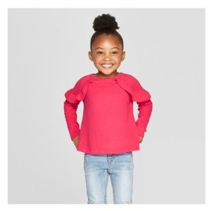 Toddler Girls' Long Sleeve Cozy Pullover Sweater
